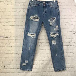 Tobi Jeans - TOBI Jeans distressed medium Wash women's 27 HW !!